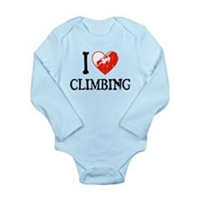 I Heart Climbing - Woman Long Sleeve Infant Bodysu