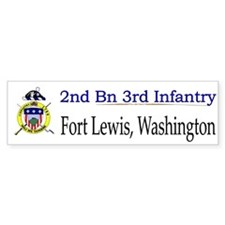 2nd Bn 3rd Infantry Regiment Bumper Sticker