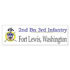 2nd Bn 3rd Infantry Regiment Car Sticker