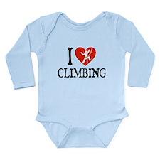 I Heart Climbing - Picto Long Sleeve Infant Bodysu