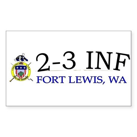 2nd Bn 3rd Infantry Regiment Sticker (Rectangle)