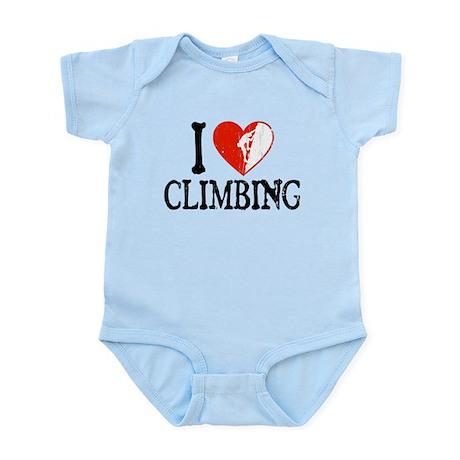 I Heart Climbing - Guy 2 Infant Bodysuit