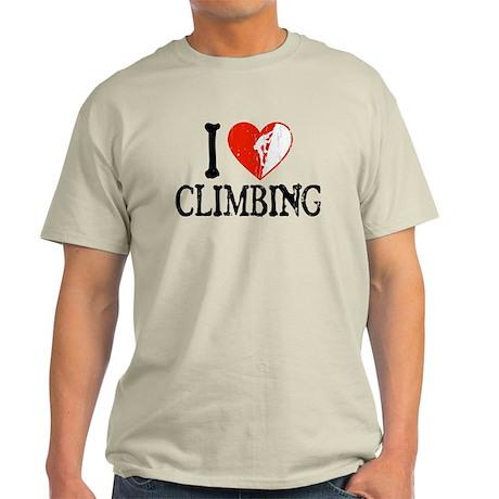 I Heart Climbing - Guy 2 Light T-Shirt