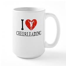 I Heart Cheerleading Coffee Mug
