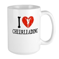 I Heart Cheerleading Mug