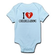 I Heart Cheerleading Infant Bodysuit