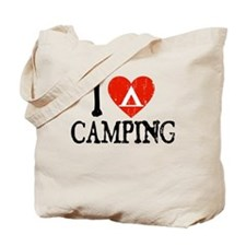 I Heart Camping - Picto Tote Bag