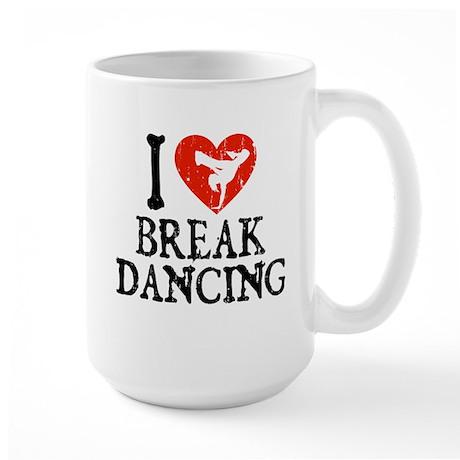 I Heart Breakdancing - Girl Large Mug