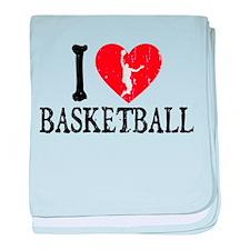 I Heart Basketball - Guy baby blanket