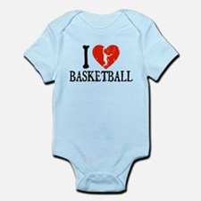 I Heart Basketball - Guy Infant Bodysuit