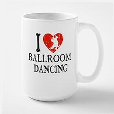 I Heart Ballroom Dancing Large Mug