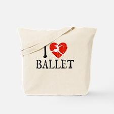 I Heart Ballet Tote Bag