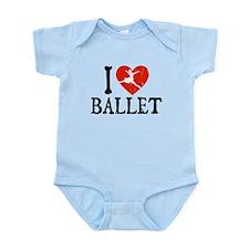 I Heart Ballet Infant Bodysuit