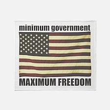 Minimum Government, Maximum F Throw Blanket