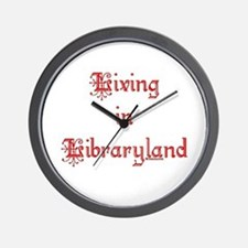Living in Libraryland Wall Clock