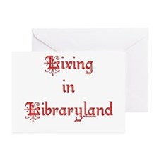 Living in Libraryland Greeting Cards (Pk of 10