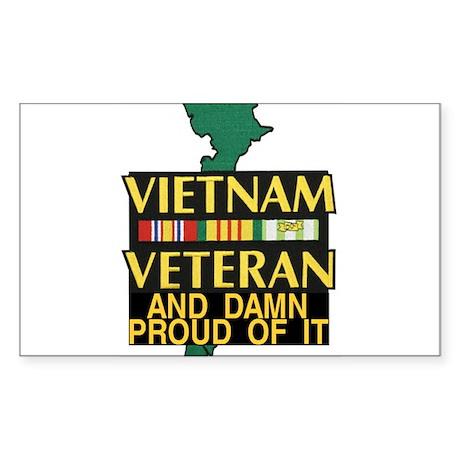 VIETNAM PROUD OF IT Sticker (Rectangle)