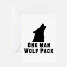 One Man Wolf Pack Greeting Cards (Pk of 20)