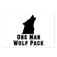 One Man Wolf Pack Postcards (Package of 8)