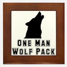 One Man Wolf Pack Framed Tile