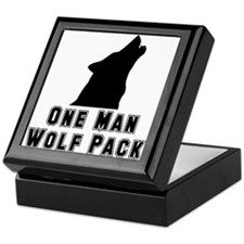 One Man Wolf Pack Keepsake Box