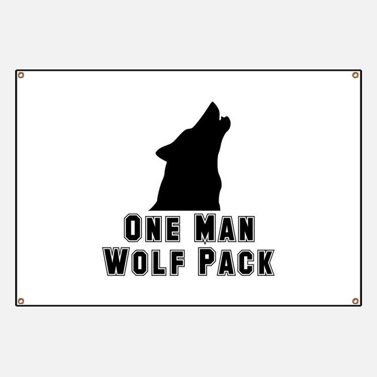 One Man Wolf Pack Banner