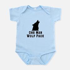 One Man Wolf Pack Infant Bodysuit