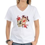 Squid Cards Women's V-Neck T-Shirt