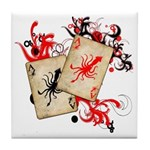 Squid Cards Tile Coaster