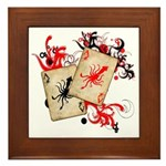 Squid Cards Framed Tile