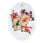 Squid Cards Ornament (Oval)