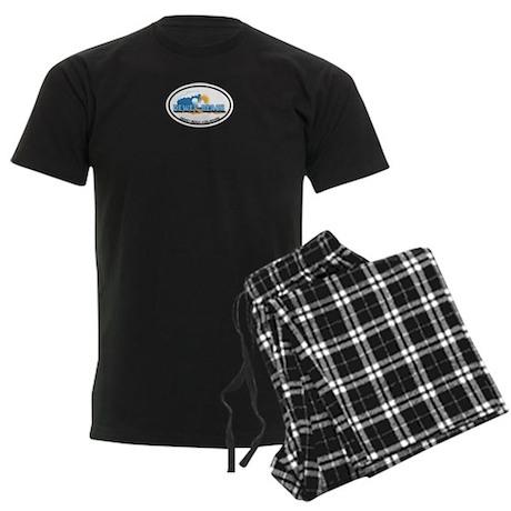 Dewey Beach DE - Oval Design Men's Dark Pajamas