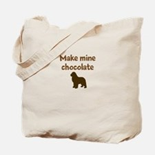 Cute Make mine chocolate lab Tote Bag