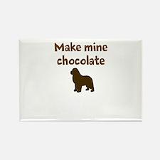 Unique Make mine chocolate lab Rectangle Magnet