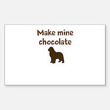 Cute Make mine chocolate lab Decal