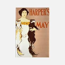 Harper's May Rectangle Magnet