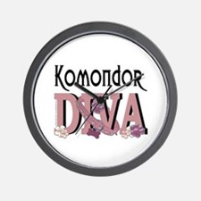 Komondor DIVA Wall Clock