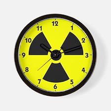 Radiation Icon Wall Clock