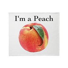 Peach Throw Blanket
