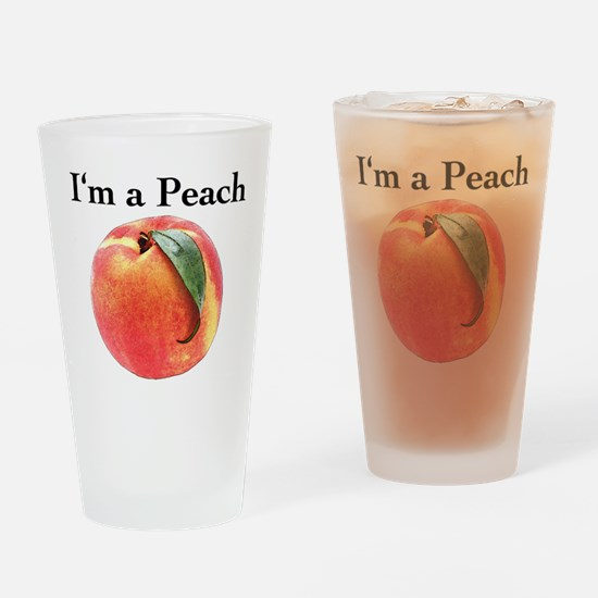 Peach Drinking Glass