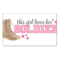 Unique I love my soldier Decal