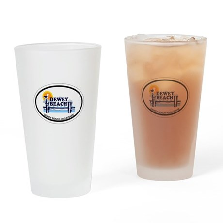 Dewey Beach DE - Oval Design Drinking Glass
