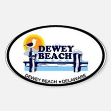 Dewey Beach DE - Oval Design Decal