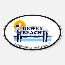 Dewey Beach DE - Oval Design Sticker (Oval)