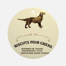 French Dog Biscuits Ornament (Round)