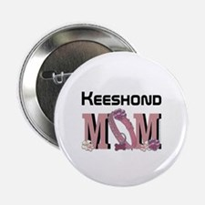 "Keeshond MOM 2.25"" Button"