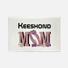 Keeshond MOM Rectangle Magnet