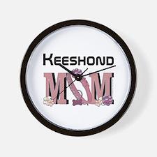 Keeshond MOM Wall Clock