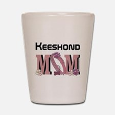 Keeshond MOM Shot Glass