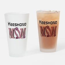 Keeshond MOM Drinking Glass